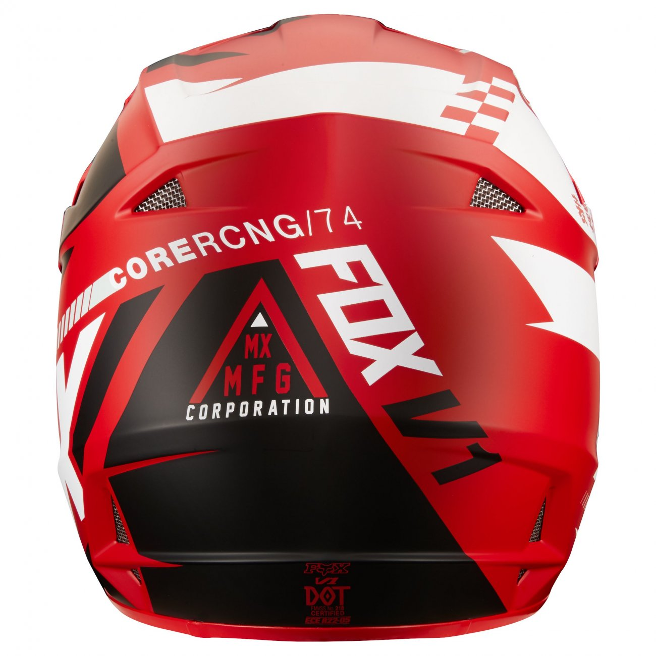 Casque moto cross Fox V1 Sayak rouge 2018 FX1550