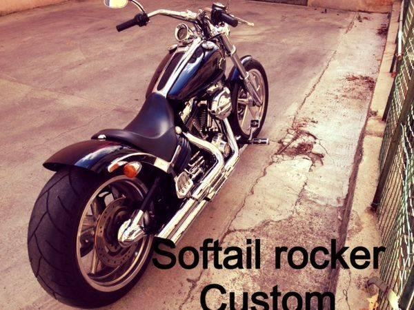 Harley davidson softail rocker custom d 39 occasion sur aix for Garage bmw moto aix en provence