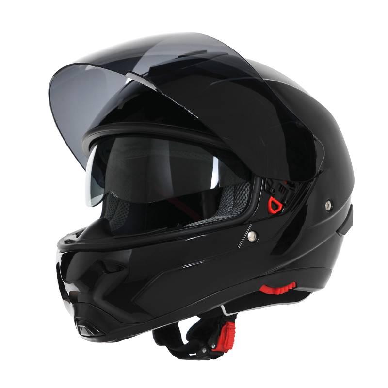 casque int gral moto ou scooter dexter x pilot noir moto. Black Bedroom Furniture Sets. Home Design Ideas